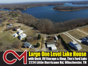 REAL ESTATE: 2224 Little Hurricane Rd, Winchester, TN Lake House
