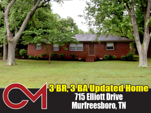 REAL ESTATE: 715 Elliott Drive, Murfreesboro, TN