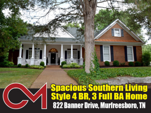 REAL ESTATE: 822 Banner Dr, Murfreesboro, TN