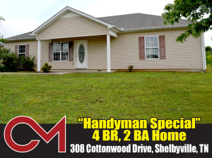 REAL ESTATE: 308 Cottonwood Dr, Shelbyville, TN