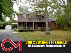 REAL ESTATE: 718 Penn Ct, Murfreesboro, TN