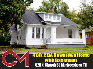REAL ESTATE: 526 N. Church St, Murfreesboro, TN