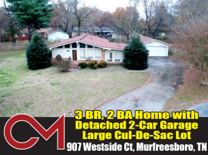 REAL ESTATE: 907 Westside Ct, Murfreesboro, TN