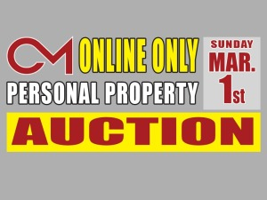PERSONAL PROPERTY: Multi Estate Auction March 1st