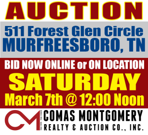 REAL ESTATE: 511 Forest Glen Circle, Murfreesboro, TN