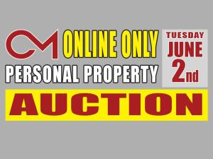 PERSONAL PROPERTY: Online Warehouse Auction Spring 2020