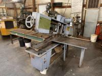 "DoALL Metal Cutting Band Saw Model C-916 Serial No. 438-85287. 230 Voltage 3 Phase 60 Hertz. Band Length 159"". Electric Schematic No. 413758-1. Drive"