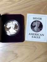 1987 Silver American Eagle One Dollar One Ounce Proof Silver Bullion Coin