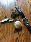 SEARS, ROEBUCK Train Stopwatch, SEIKO Wrist Watch, and Pocket Knives