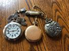 Assortment of Pocket Watches- PLOW & HEARTH, COLIBRI, WALTHAM