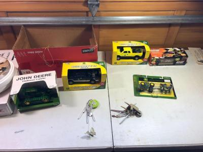 Misc. Items- JOHN DEERE Scale Model Toys, JOHN DEERE Plate, Wind Chimes, Etc.