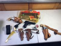 Various Toy Guns- Cap Gun, Pellet Gun, Etc.