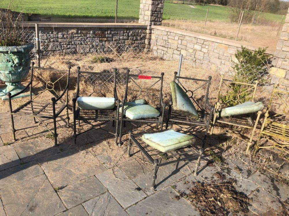 Landgrave Patio Furniture.Cast Classic Landgrave Metal Patio Chairs 7 And Foot Stool Some