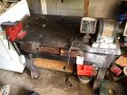 Wooden Work Bench w/ CRAFTSMAN Bench Grinder and Bench Vice (Contents included)- 31in x 40in x 22in
