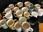Variety of coffee mugs and cups