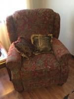Reclining Upright Upholstery Chair