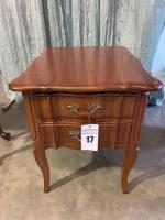 Southern Colonial Solid Wild Cherry Side Table