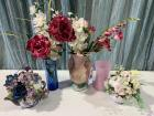 Assortment of Flower Arrangements & Vases