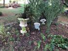 Variety of Decorative Planters and Garden Art