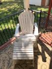 Wooden Adirondack Chair w/ Foot Stool