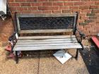 Wood and Metal Outdoor Bench- 35in. T x 51in. W x 26in. D