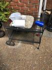 Metal Cart w/ Contents- 31in. T x 34in. W x 19. D