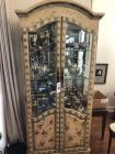 Decorative Wooden Display Cabinet w/ Light (Contents Not Included)- 78in. T x 32in. W x 16in. D (Slight Damage on Door)