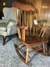 Vintage Windsor style armchair rocker. 41 inches high