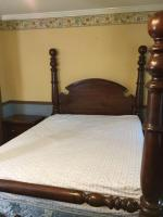 Large 4 post queen size headboard, foot board, & side boards (Singer Furniture) (matches items # 39 & 40)
