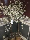 2 artificial flowering trees