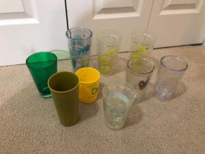 Variety of Plastic Drinking Cups