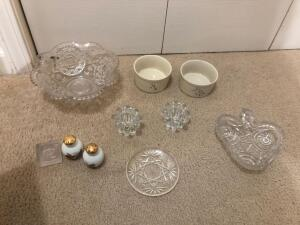 Misc. Items- Bowls, Candle Holders, Salt & Pepper Shakers, Etc.