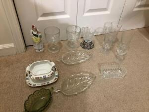 Misc. Items- Stemmed Glassware, Glass Dishes, Etc.