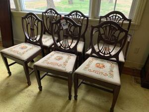 (6) Vintage Dinning Room Chairs
