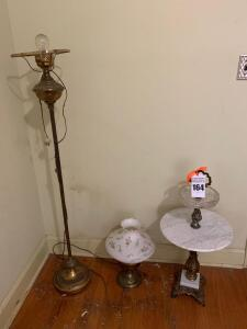2 Vintage Lamps and Ash Tray