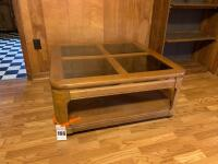 Large Coffee Table w/ Glass Inserts