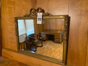 Mirror with Decorative Gold Frame - 28W x 20T