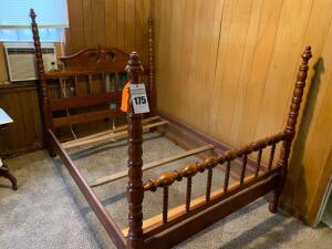 Davis Cabinet 2328 Bed 4/6 Collector Cherry Post Bed - 56W x 81L