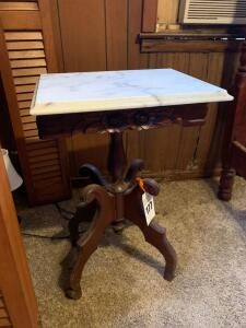 Marble Top Side Table - 28T x 18W x 14D