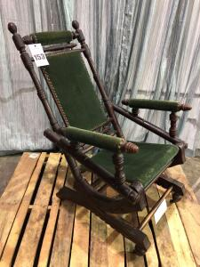 Antique Victorian Spring Rocker (still functional) - 24 x 22 x 37