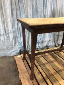 Antique Dark Oak Jewelers Table (shows wear) - 23.5 x 40 x 30