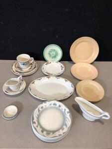 Assortment of Miscellaneous Vintage Restaurant Ware