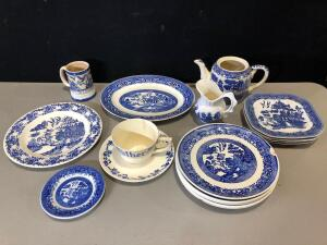 Collection of Blue & White China and Porcelain