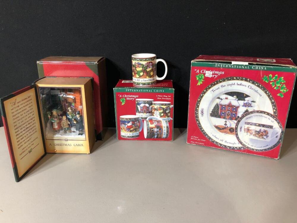 Lot 491new In Box A Christmas Carol Animated Music Box International China A Christmas Story