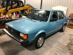 NOW SELLING ABSOLUTE! 1984 Volkswagen Rabbit - 4-Door Hatchback - 1.6L Diesel Engine - Odometer Reads 33,230 miles