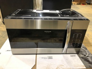 Frigidaire Gallery Black/Stainless Steel Over the Range Microwave/Exhaust Fan/Stove Light Combination - 15 inches deep x 30 inches wide x 16 inches high