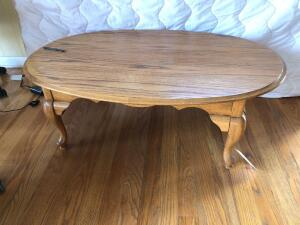Oak Coffee Table (matches Lots 2, 3, 5) - 27.5 inches L x 46 inches W x 16 inches H