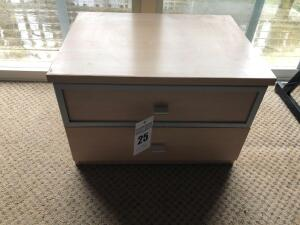 Small Office 2-Drawer Cabinet (matches Lot 24) - 16.75 inches L x 22 inches W x 15 inches H