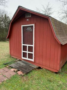16ft x 12ft Portable Space Maker High Wall Dutch Barn w/ Electricity Hookup