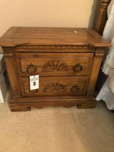 Vintage Wooden Night Stand- 23in. T x 28in. W x 16in. D